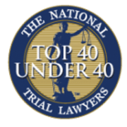 Top 40 under 40 badge for trial lawyers.