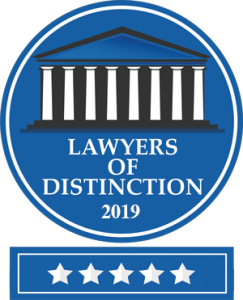 Ward Law Group Mancheseter NH Laywers of Distinction 2019 badge.